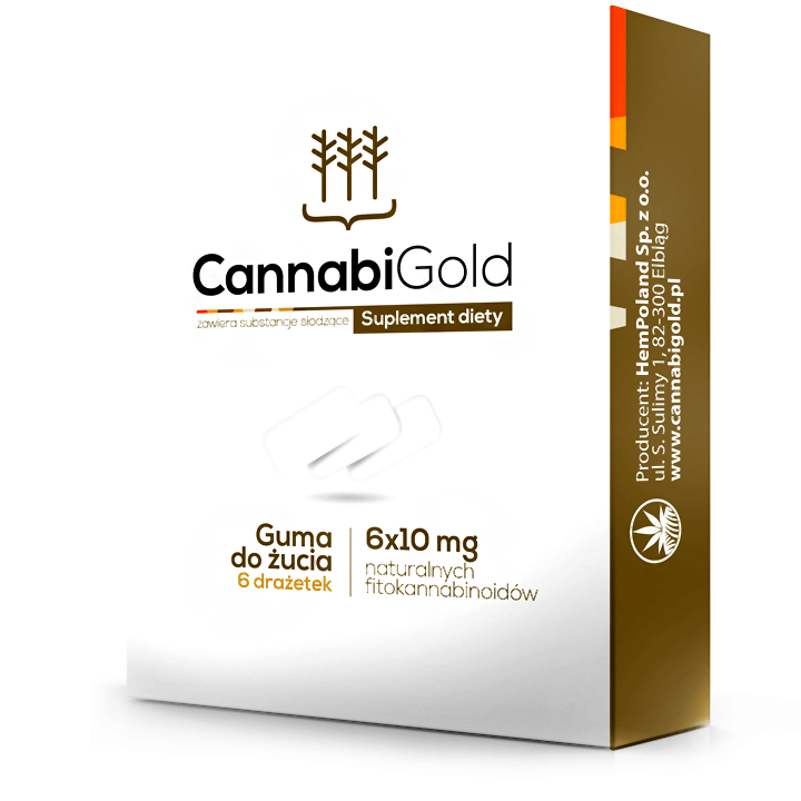 CANNABIGOLD GOMME A MACHER CBD AVEC EXTRAIT DE CHANVRE 60MG 6 PIECES