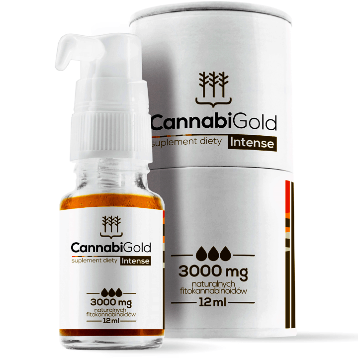 CANNABIGOLD INTENSE OLEJEK KONOPNY 3000MG CBD 12ML