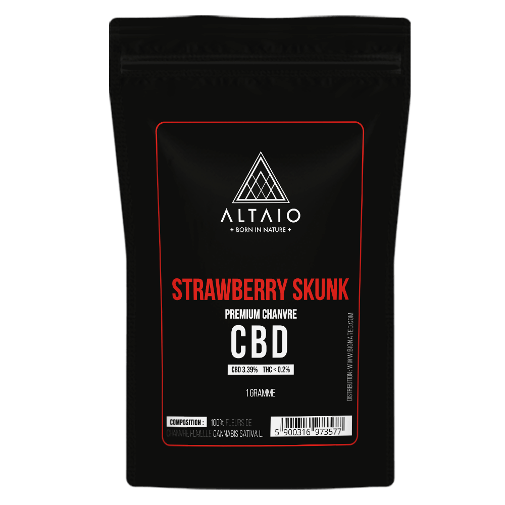 ALTAIO STRAWBERRY SKUNK FLEUR DE CHANVRE 3.39% CBD 1G